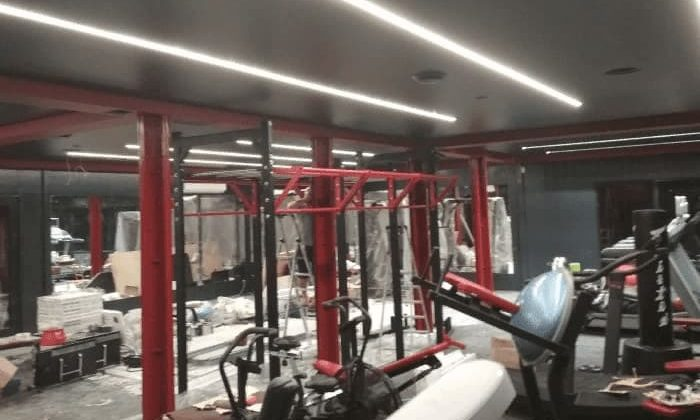 Ремонт в фитнес-студии «Берег»