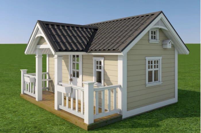 Проект деревянного детского домика